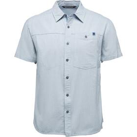 Black Diamond Chambray Modernist Bluzka z krótkim rękawem Mężczyźni, blue steel